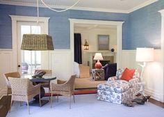 love the grass cloth wallpaper by Phillip Jeffries | interior design