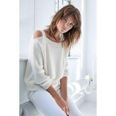 Pullover, Off-Shoulder, oversized, Casual Vorderansicht