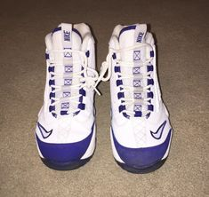 4079bb65adf4 Nike Air Griffey Max II GS White Blue 443957-401 Youth Shoes Size 7Y