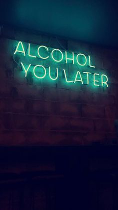 We're Neon Sign lovers here. Like good design? Get your fill at Referential Treatment. See more neon lights, led lights, el wire lights like this on this board. Neon Aesthetic, Quote Aesthetic, Alcohol Aesthetic, Music Aesthetic, Neon Quotes, Neon Words, Neon Lighting, Lighting Ideas, Funny Signs