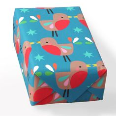 louise's robin christmas wrapping paper by paper & cloth design studio | notonthehighstreet.com