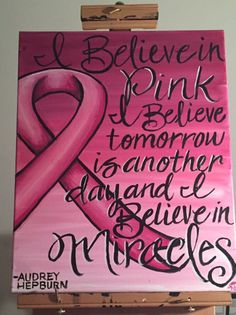 Custom Audrey Hepburn Breast Cancer Awareness painting at KreativelyDuns Etsy page! Www.etsy.com/shop/KreativelyDun