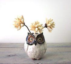 Owl Vase by 22BayRoad on Etsy, $14.00