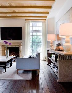 Love the credenza and lamps.