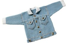 PDF-Häkelanleitung: Babyjacke / Kinderjacke Jeans