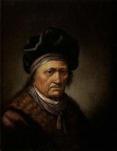 Jacob van Spreeuwen: Portret van een oudere man met een blauwe tulband en een bontkraag. ca. 1626-1660. Veiling Sotheby's 1999, lot 357. Voorheen toegeschreven aan Gerard Dou.