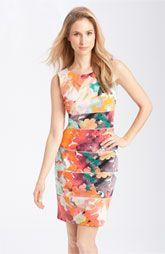 Calvin Klein banded sheath dress.