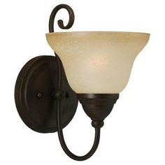 Sea Gull Lighting Montclaire 1-Light Olde Iron Wall Sconce-41105-72 at The Home Depot