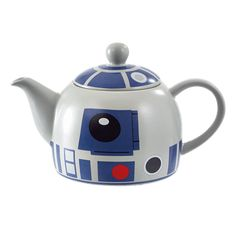 This IS the teapot you're looking for! Luke's trusty droid companion is now available in this traditionally styled teapot. Great for parties or collectors of Star Wars memorabilia alike. Product Details: Geometric Decal Design Made with High Quality Ceramic Holds Approx. 1L
