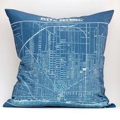 ready to ship DIY vintage DETROIT Plan map pillow KIT by saltlabs, $35.00