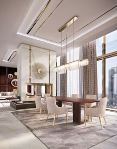 Discover exclusive lighting ideas for a luxurious dining room ambiance.