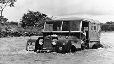 """Land Rover 86"""" Serie One soft top proof deep river.  Nice!"""