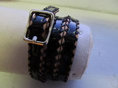 I got ine over the weekend at #artawhirl.  black and tan zigzag leather wristlet by needleandblack on Etsy