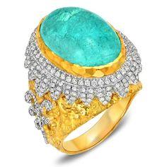 Victor Velyan Paraiba Tourmaline Gold Ring