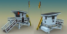 Environment model for 'Crazy Taxi:City Rush', iOS