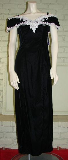 NOS NWT Vintage 80s Steppin Out Black Velvet by thescarletmonkey, $44.99