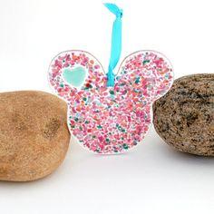 Fused Glass Mouse Ears Suncatcher Ornament
