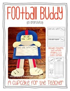 """football buddy {a craftivity}: predicting the """"big game"""" with a writing activity"""