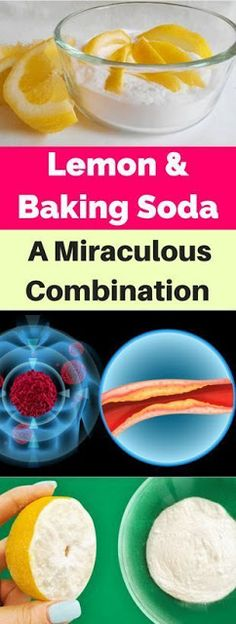 Lemon & Baking Soda-A Miraculous Combination! With a popular trend of natural remedies, you might think that lemon and baking soda combination is just one of this links. Health Remedies, Home Remedies, Natural Remedies, Natural Hair Mask, Garlic Recipes, Diabetic Recipes, Healthy Tips, Healthy Choices, Sodas