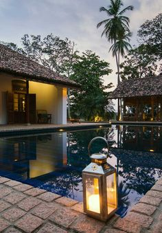 In the evenings, sip on ginger-ale gin cocktails besides the #pool during sunset happy hour. #Indistay | Maya, Sri Lanka