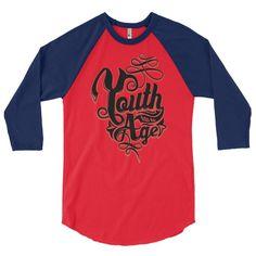 Youth... 3/4 sleeve raglan shirt