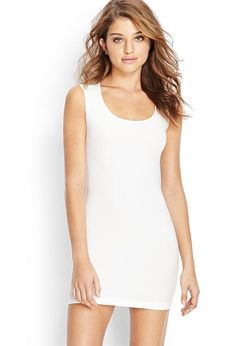 Complete with a cutout back, this sleeveless bodycon dress features a scoop neckline. Dress this ...