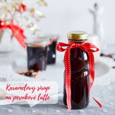 Karamelový sirup na perníkové latte - Salted Caramel Gingerbread Syrup Latte, Home Canning, Preserves, Pickles, Caramel, Perfume Bottles, Sweets, Smoothie, Smoothies