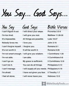 Good reminders for whenever I start believing lies instead of God's truth