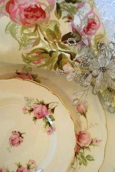 Pretty rose dishes!