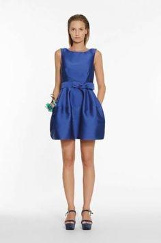 Dress+blu+con+gonna+a+palloncino - Dress+blu+con+gonna+a+palloncino+Parosh.