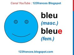 MUY BUENOOOOOO Curso de francés 2 - Los colores en francés - masculino femenino - Les c... Learn French, Chart, Learning, Youtube, Books, Languages, French Education, French Tips, Fitness Exercises