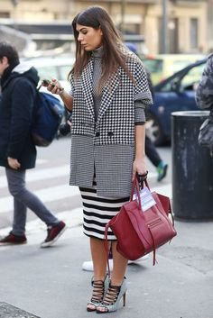 Black and white prints with a splash of attention-getting red. Source: Tim Regas