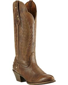Ariat Dusty Diamond Cowgirl Boots - Round Toe, Brown