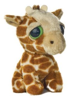 "6"" Aurora Plush Dreamy Eyes Giraffe ""Giggler"" Safari Mini Stuffed Animal"
