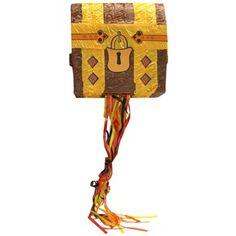 Brown & Yellow Pirate Treasure Chest Pinata   Shop Hobby Lobby