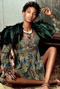 Willow Smith se estrena en el mundo de la moda femenina posando para la revista CR Fashion Book.   Fotografía: Bjorn loos