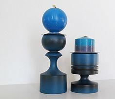 Blue Boho Candle Holders by ClassicRetro on Etsy, $24.00