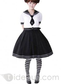 Sweet Princess Black and White Cotton Lolita Suit