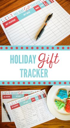 Holiday Gift Tracker | Making a list and checking it twice....  It's so helpful to have a chart to help you stay organized with gift brainstorming and budget planning around the holidays!  Visit thinkingcloset.com to learn how you get your hands on your own tracker!