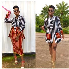 Latest Plain And Pattern Styles For Ladies: 55 Beautiful Plain And Patterned Ank. from Diyanu - Ankara Dresses, Shirts & Latest Ankara Dresses, Short African Dresses, Ankara Dress Styles, Latest African Fashion Dresses, African Print Dresses, African Print Fashion, Ankara Fashion, Ankara Gowns, Ankara Blouse