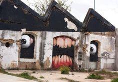 Monster Friche ! street art - mural - abandoned building