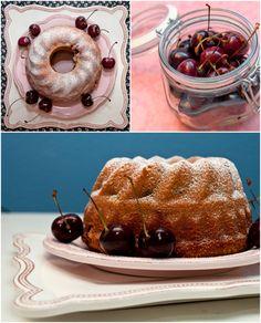 vegan 5 minute vanilla and cherry bundt cake   ///  5-Minuten-Gugelhupf mit Vanille und frischen Kirschen