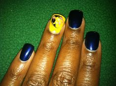 Another freehand marble nail art design by Shannan.
