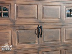 This amazing faux wood garage doors is truly an extraordinar.- This amazing fa.This amazing faux wood garage doors is truly an extraordinar.- This amazing faux wood garage doors is truly an extraordinary design construct. Garage Door Paint, Garage Door Colors, Wood Garage Doors, Garage Door Makeover, Old Garage, Garage Door Design, Faux Wood Garage Door Diy, Exterior Makeover, Garage Office