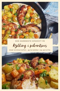 Danish Food, Paella, Potato Salad, Chicken Recipes, Food And Drink, Potatoes, Thanksgiving, Favorite Recipes, Healthy Recipes