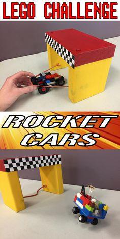 Lego Club Idea for Libraries--Rocket Cars! Make a slingshot for Lego cars and wa. Lego Club Idea for Libraries--Rocket Cars! Make a slingshot for Lego cars and watch them fly! Lego Duplo, Lego Ninjago, Lego Club, Lego Friends, Lego Projects, Projects For Kids, Legos, Lego Autos, Batman Lego