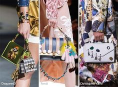 Spring/ Summer 2017 Handbag Trends: Embellishments and Charms for Bags/ Purses - brand name purses, fashion hand bag, handbags with price *ad