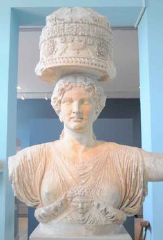 Sacred Path of the Bee. (Persephone with the Omphalos - Beehive on her head) Eleusis Museum, Athens Ancient Greek Art, Ancient Greece, Ancient History, Goddess Of The Underworld, Sacred Feminine, Persephone, Ancient Artifacts, Greek Gods, Gods And Goddesses