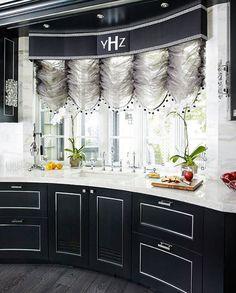 Dazzling Kosher Kitchen Remodel - Traditional Home® Black & White kitchen by Robert Schwartz