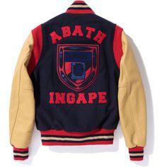 Rawrr! Check this new Bape Varsity Jacket $1387,79